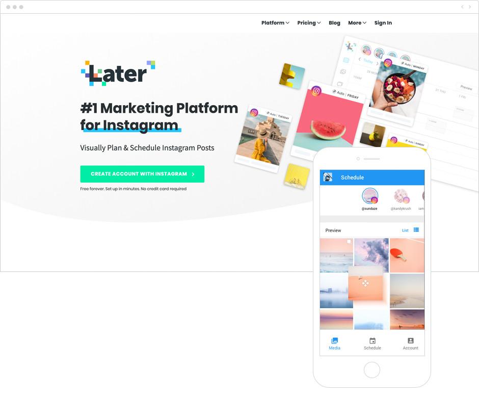 Melhores Aplicativos para Instagram para Sua Marca: Later