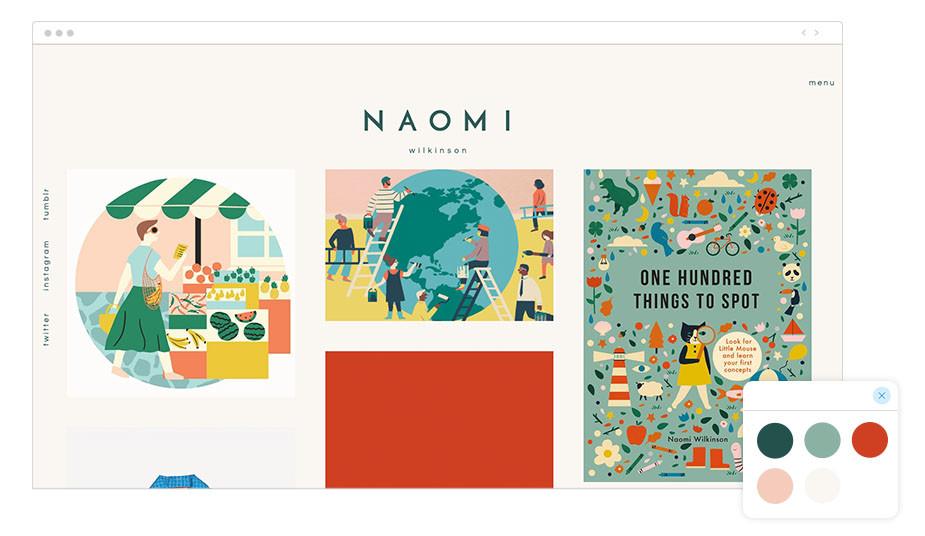 Exemplo de Paleta de Cores: Naomi Wilkinson