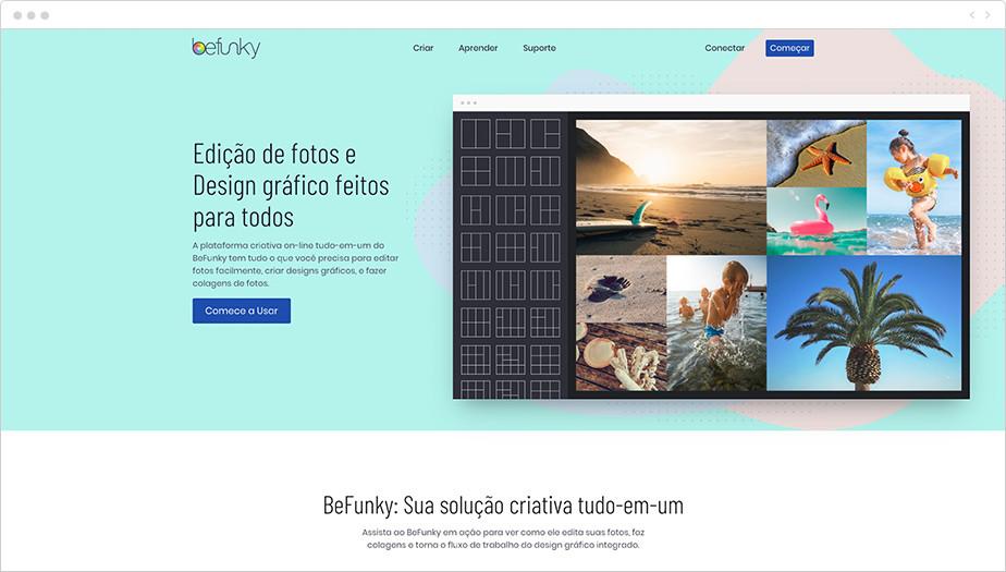 Melhores Programas de Edição de Fotos Gratuitos: BeFunky