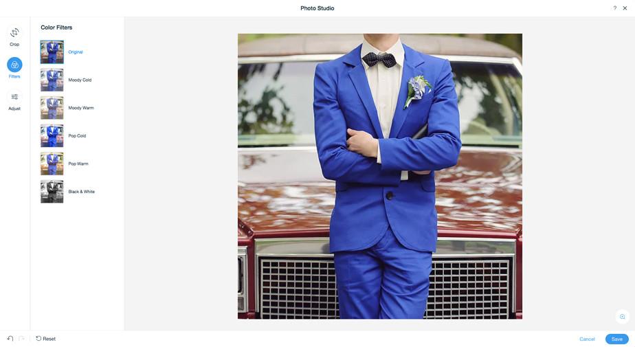 Melhores Programas de Edição de Fotos Gratuitos: Wix Photo Studio