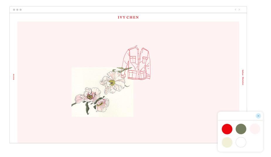 Exemplo de Paleta de Cores: Ivy Chen