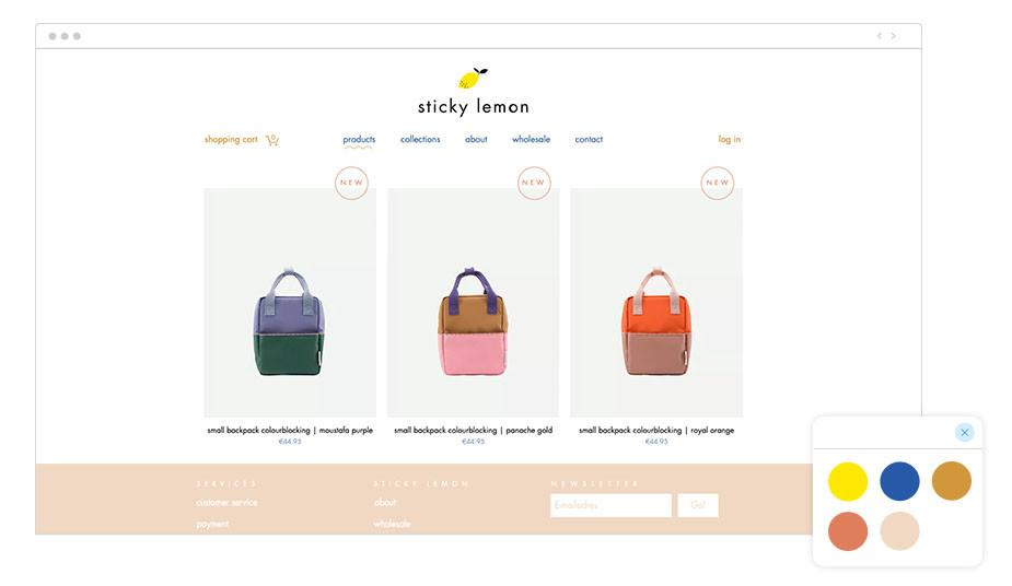 Exemplo de Paleta de Cores: Sticky Lemon
