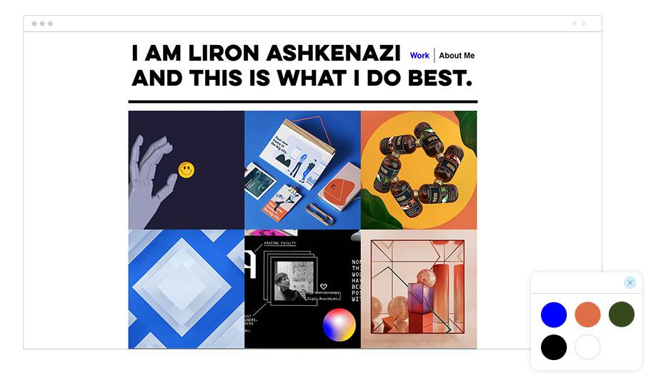 Exemplo de Paleta de Cores: Liron Ashkenazi