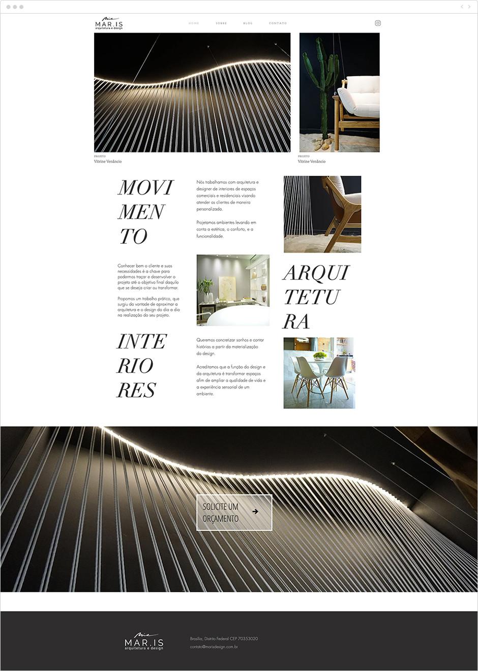 Site Wix de MAR.IS Arquitetura e Design