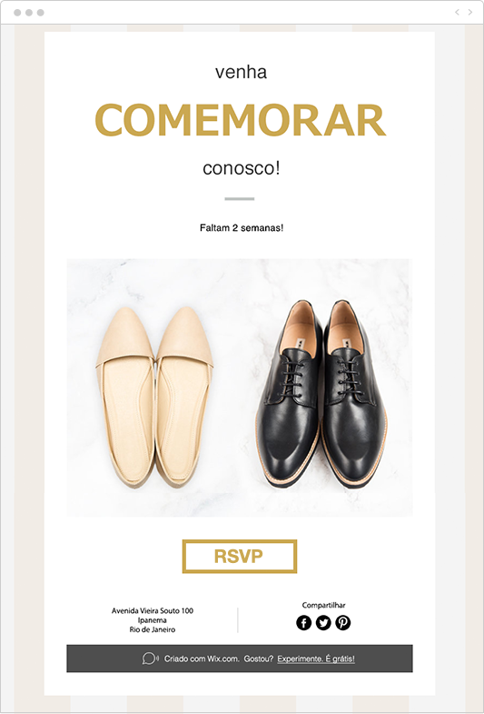 Exemplo de Email para Convidados do Casamento