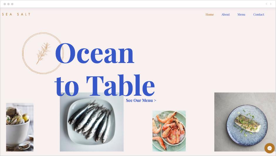 Template Restaurante de Peixes e Frutos do Mar