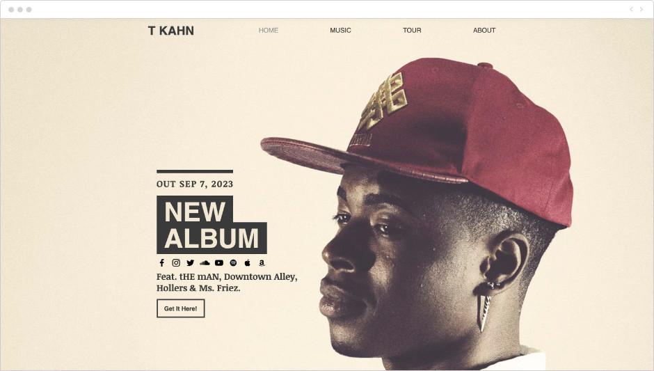 Template Artista de Hip Hop