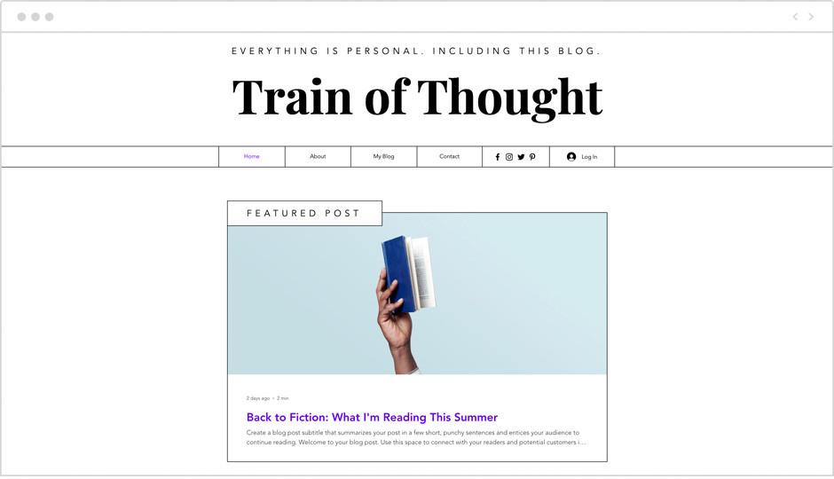 Template para site seguindo as tendências de web design para 2020