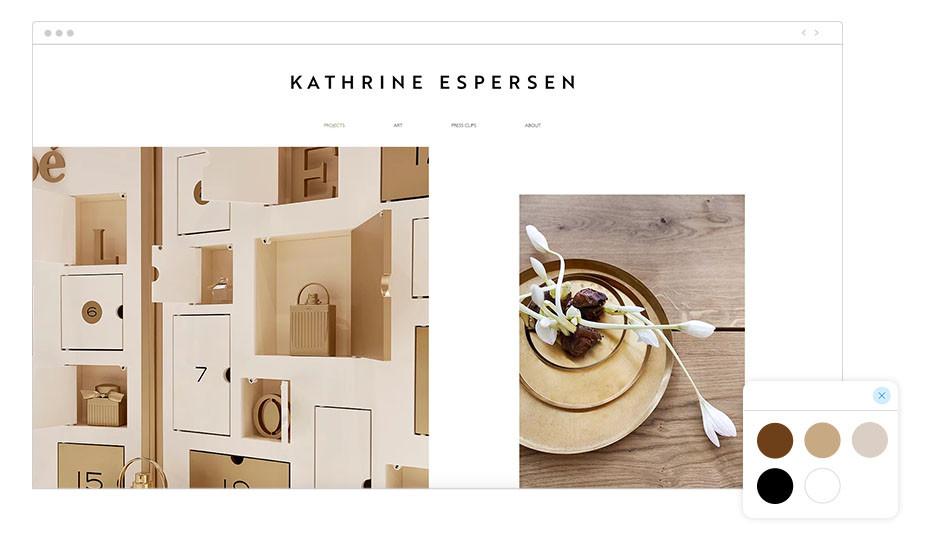 Exemplo de Paleta de Cores: Kathrine Espersen