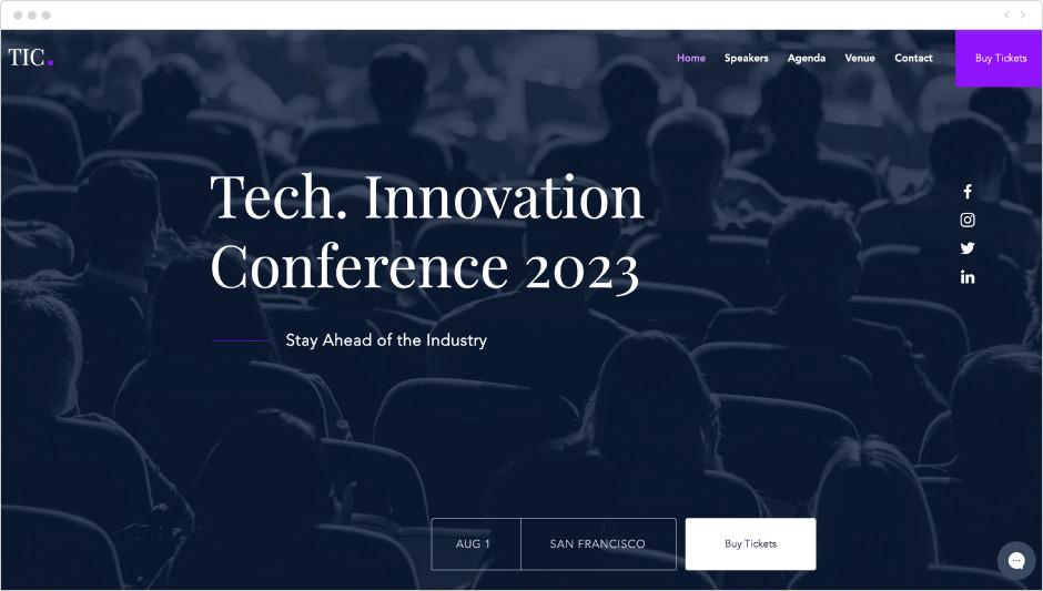 Template Site de Conferência Tecnológica