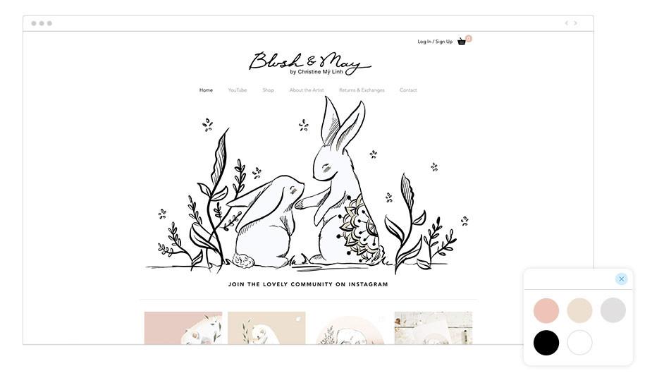 Exemplo de Paleta de Cores: Blush & May
