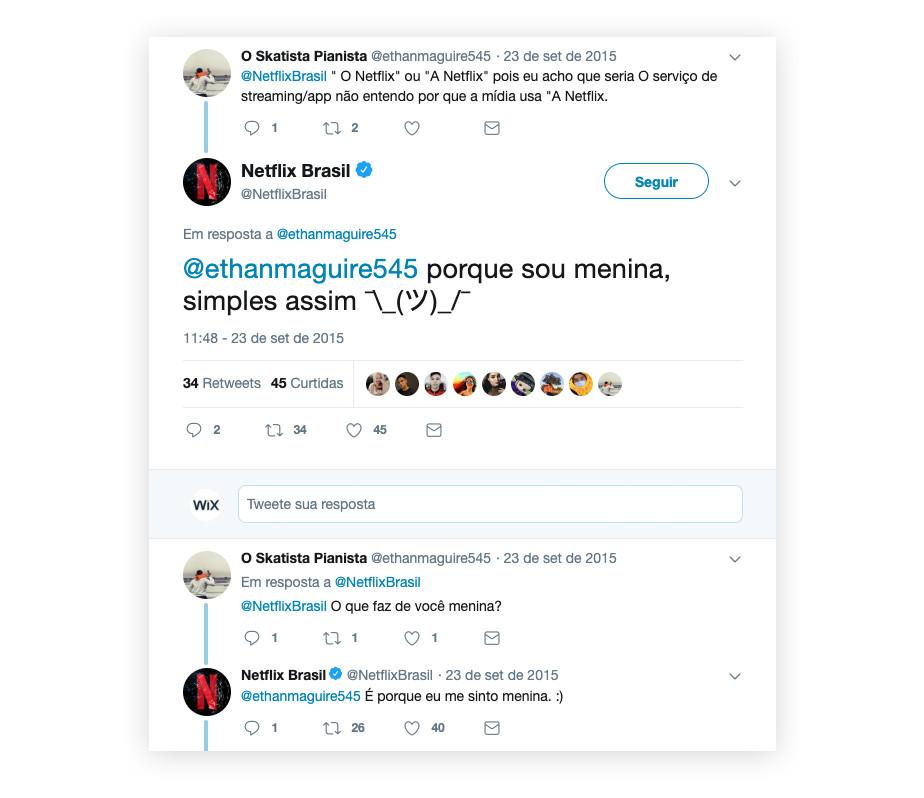 Sua marca nas redes sociais: o exemplo da Netflix