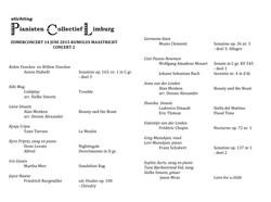 zomerconcert programma concert 2