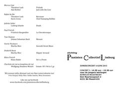 zomerconcert programma concert 1