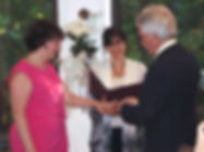 Ceremony officiated by Andrea Rudolph