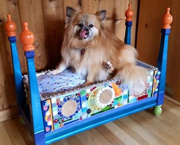 Mosaic Dog Bed