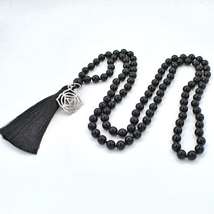 Black Tourmaline Knotted Mala