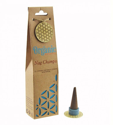 ORGANIC Goodness Incense Cones with Ceramic Holder