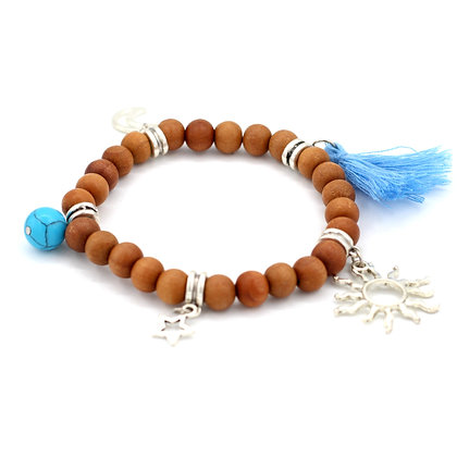 Celestial Sandalwood Stretch Bracelet