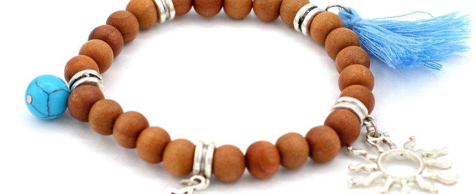 Celestial Sandalwood Stretch Bracelet