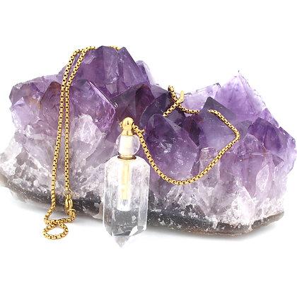 Clear Quartz Perfume Pendant