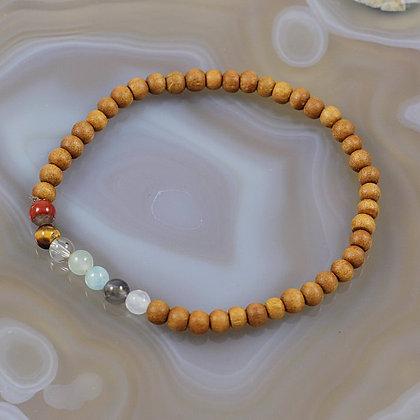 Balanced Chakras Stretch Bracelet