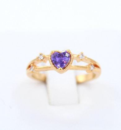 Amethyst 14K gold Ring