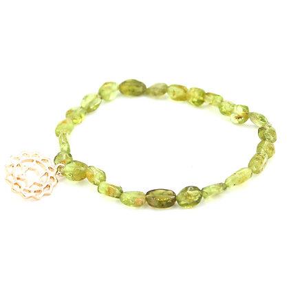 Peridot Stretch Bracelet - Heart Chakra