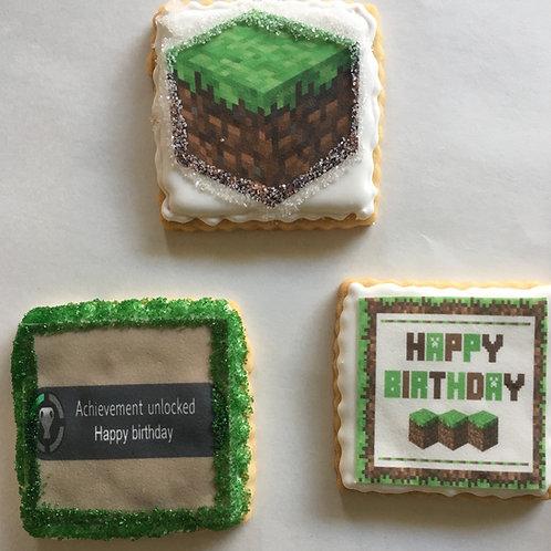 Minecraft Edible Image Sugar Cookies