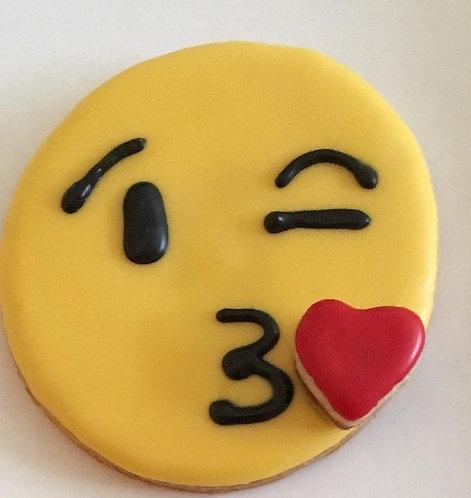 Kiss Emoji Cookies