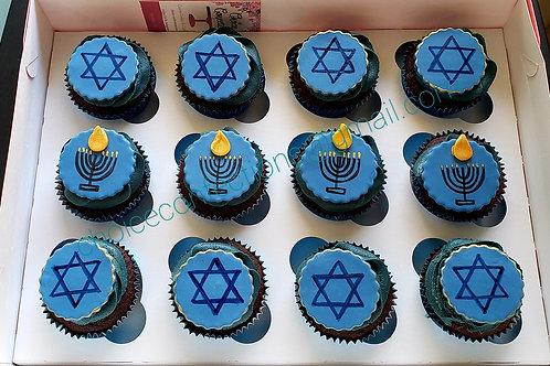 Hanukkah Cupcakes