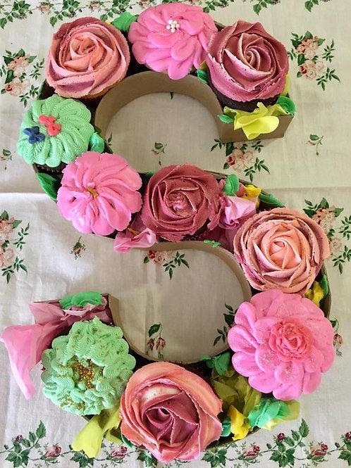Monogram Cupcake Box