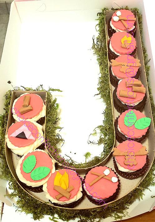 Monogram Cupcake Box - Fondant Designs
