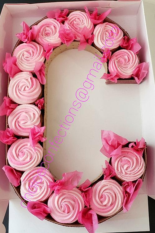 Monogram Cupcakes Boxes - Single color design