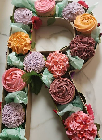 Monogram Cupcake Box - Multicolor Designs