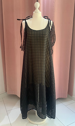 H.S Black Gingham Dress