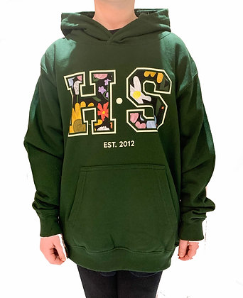 H.S Mini forest green hoodie