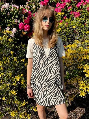 H.S Ecru Tiger Vest Dress