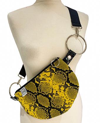 H.S Vegan Snakeskin Shoulder Bag