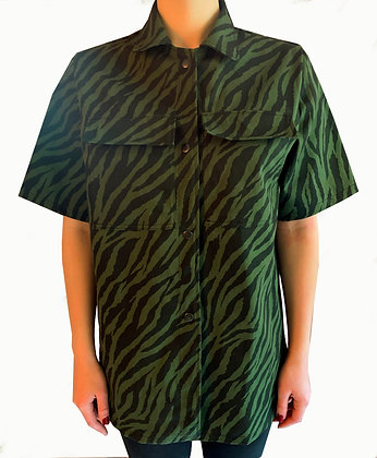 H.S Forest Green Tiger Overshirt