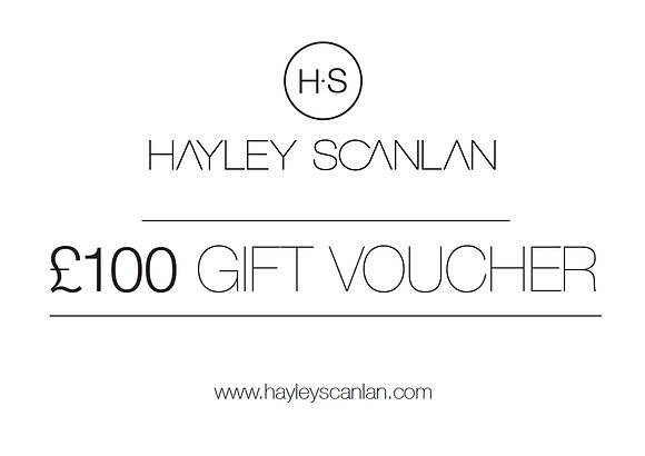 H.S Gift Voucher £100