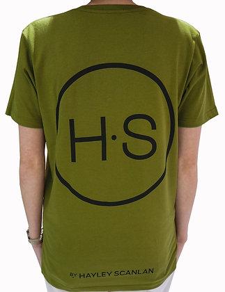 H.S Organic Khaki Logo T-Shirt