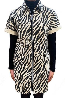 H.S Ecru Tiger Shirt Dress