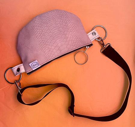 H.S Pink Vegan Python Shoulder Bag