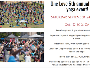 5th ANNUAL ONE LOVE MOVEMENT SEPTEMBER 24th 2016