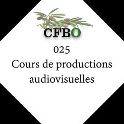 025 Cours de productions audiovisuelles