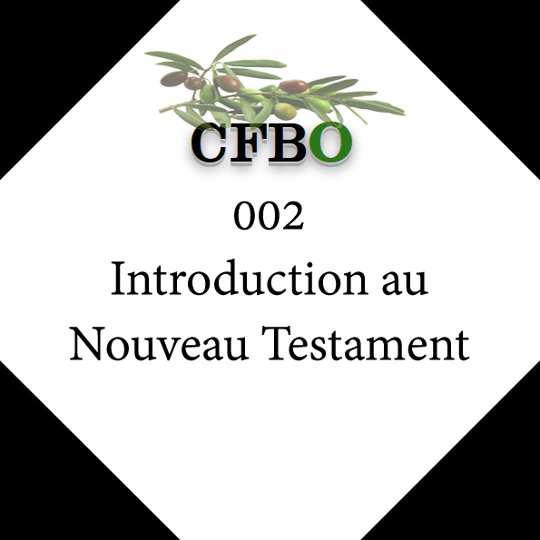 002 Introduction au Nouveau Testament