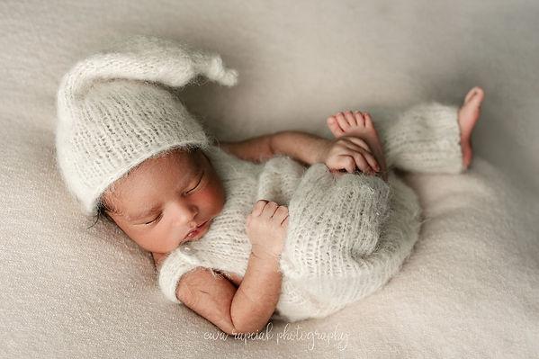 baby boy on newborn session near me