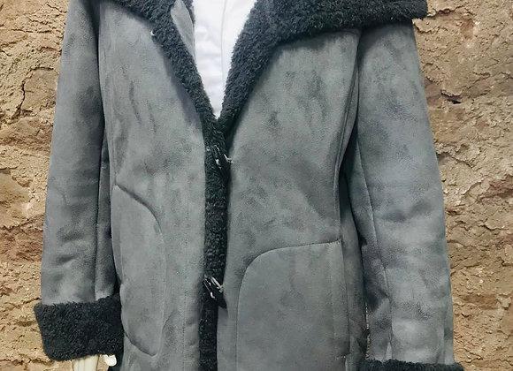 Jones New York Gray Suede Winter Coat