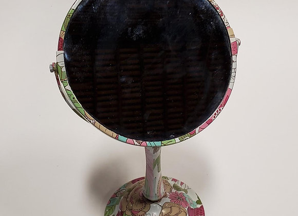 Two-sided Floral Mirror on Stand